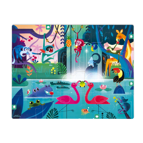 Janods-Tactile Puzzle ' Jungle Surprise' 20pcs