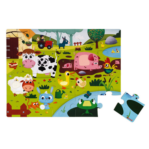 Janods-Tactile Puzzle ' Farm Animals' 20pcs