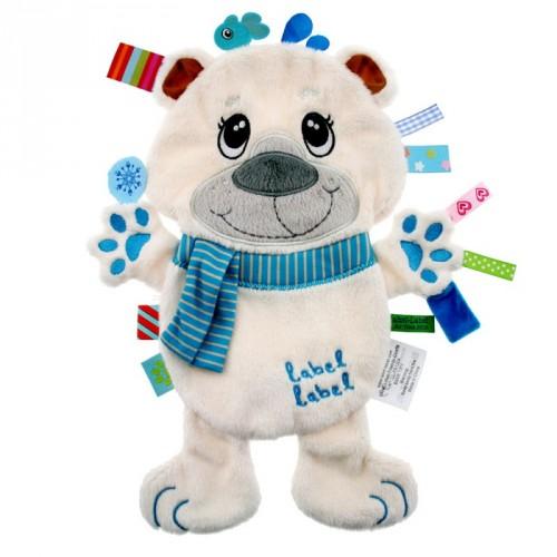 Label Label Polar Bear Sensory Fleece Blanket