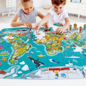2-in-1World Tour Puzzle Game & Poster