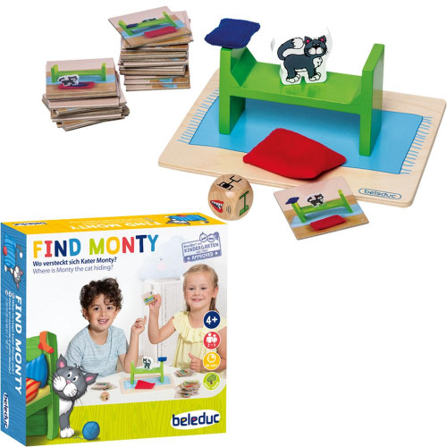 Find Monty Memory Game -Beleduc