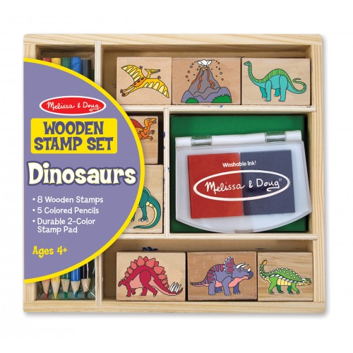 Dinosaur Stamp Wooden Set