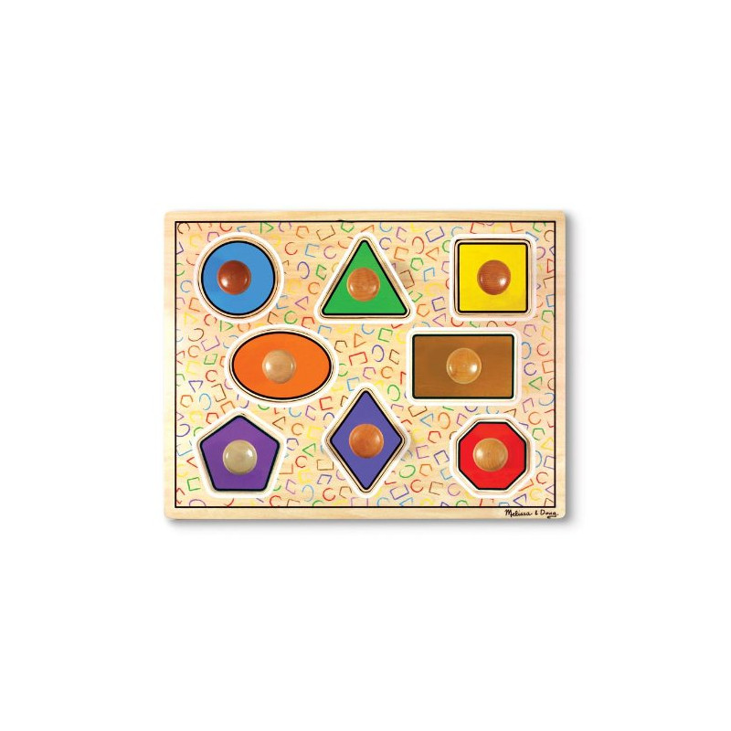 Geometric Shapes Lg Peg Puzzle