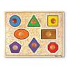Geometric Shapes Lg Peg Puzzle