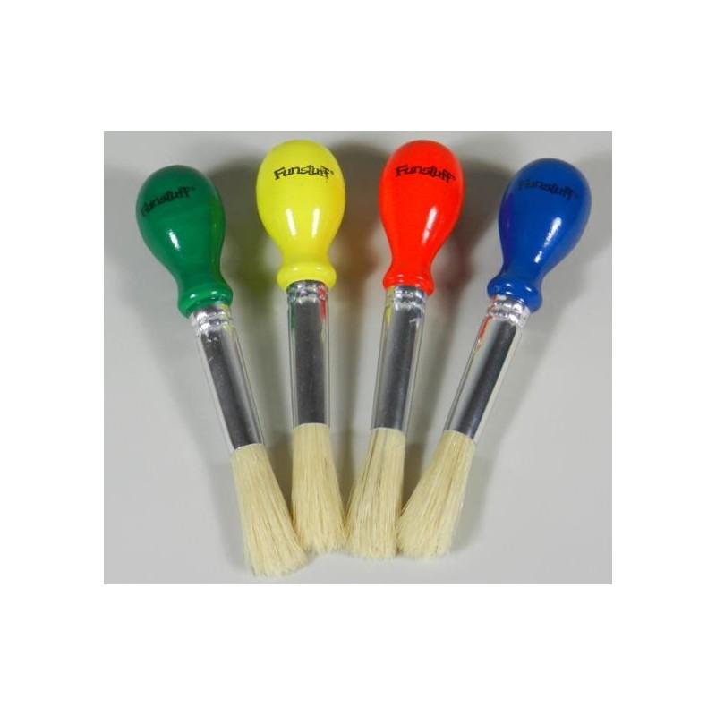 """Funstuff®  Brushes """"Easy Hold"""" (4)"""