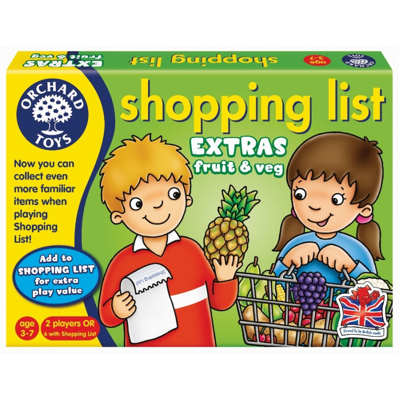 Shopping List Extras - Fruit and Veggies
