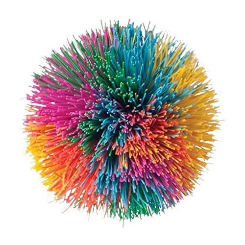 """Rainbow Pom Pom Ball (3.5"""") - Toysmith"""