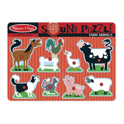 Farm Animals Sound Puzzle (8 Pieces) - Melissa & Doug