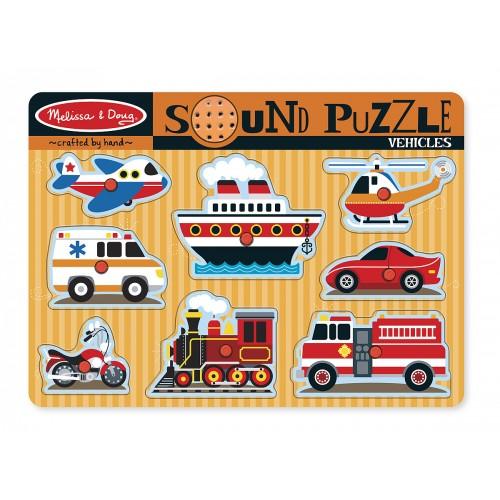 Vehicles Sound Puzzle (8 Pieces) - Melissa & Doug