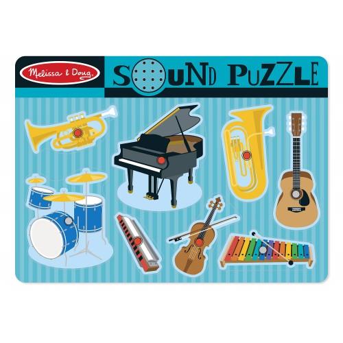 Musical Instruments Sound Puzzle (8 Pieces)  - Melissa & Doug