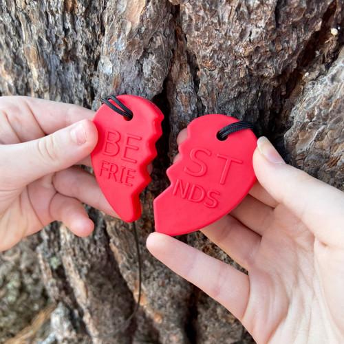 ARK's Best Friends Split Heart Chewelry Set
