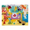 Janods-Tactile Puzzle - Forest Pets 20pcs