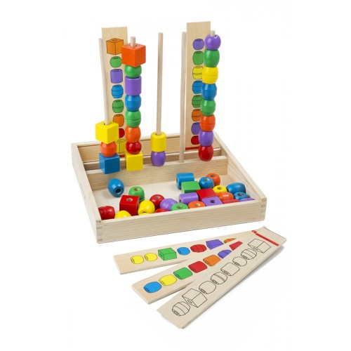 Giant Bead Sequencing Set Classic Toy - Melissa & Doug