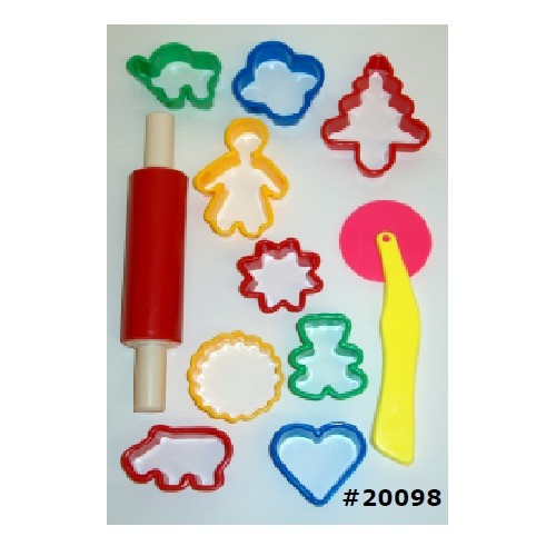 Funstuff® Clay / Dough Cutter set (11 pieces)