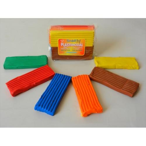 Funstuff® Plastimodal Modelling Material 500g Rainbow