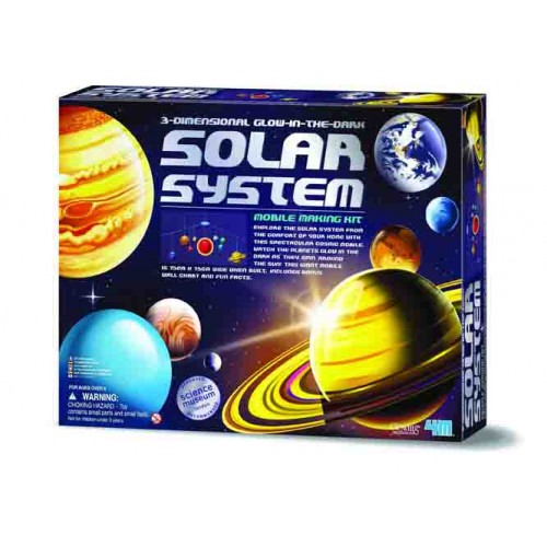 3-Dimensional Glow-In-The-Dark Solar System Mobile Making Kit