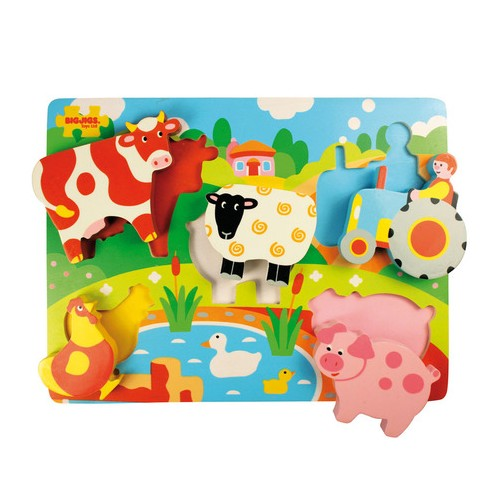 Chunky Lift Out Wooden Farm Puzzle