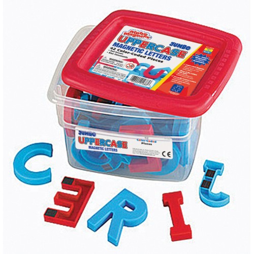 Jumbo Color-Coded Alphabet Magnets & Math Magnets