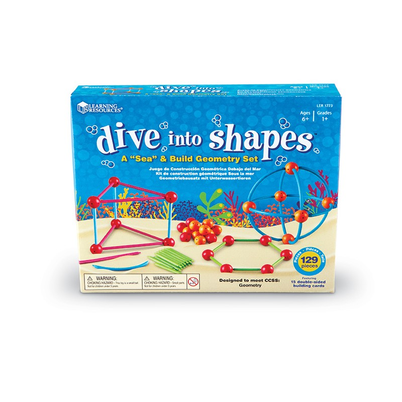 "Dive into Shapes!™ A ""Sea"" and Build Geometry Set"