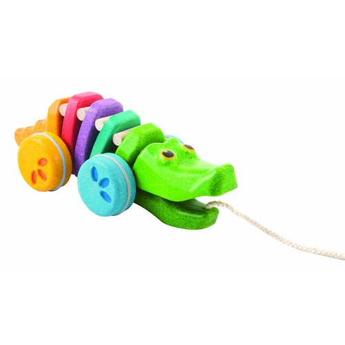 Rainbow Alligator Pull-along